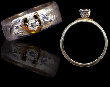 cowboyjewelerscom - Horseshoe Wedding Rings