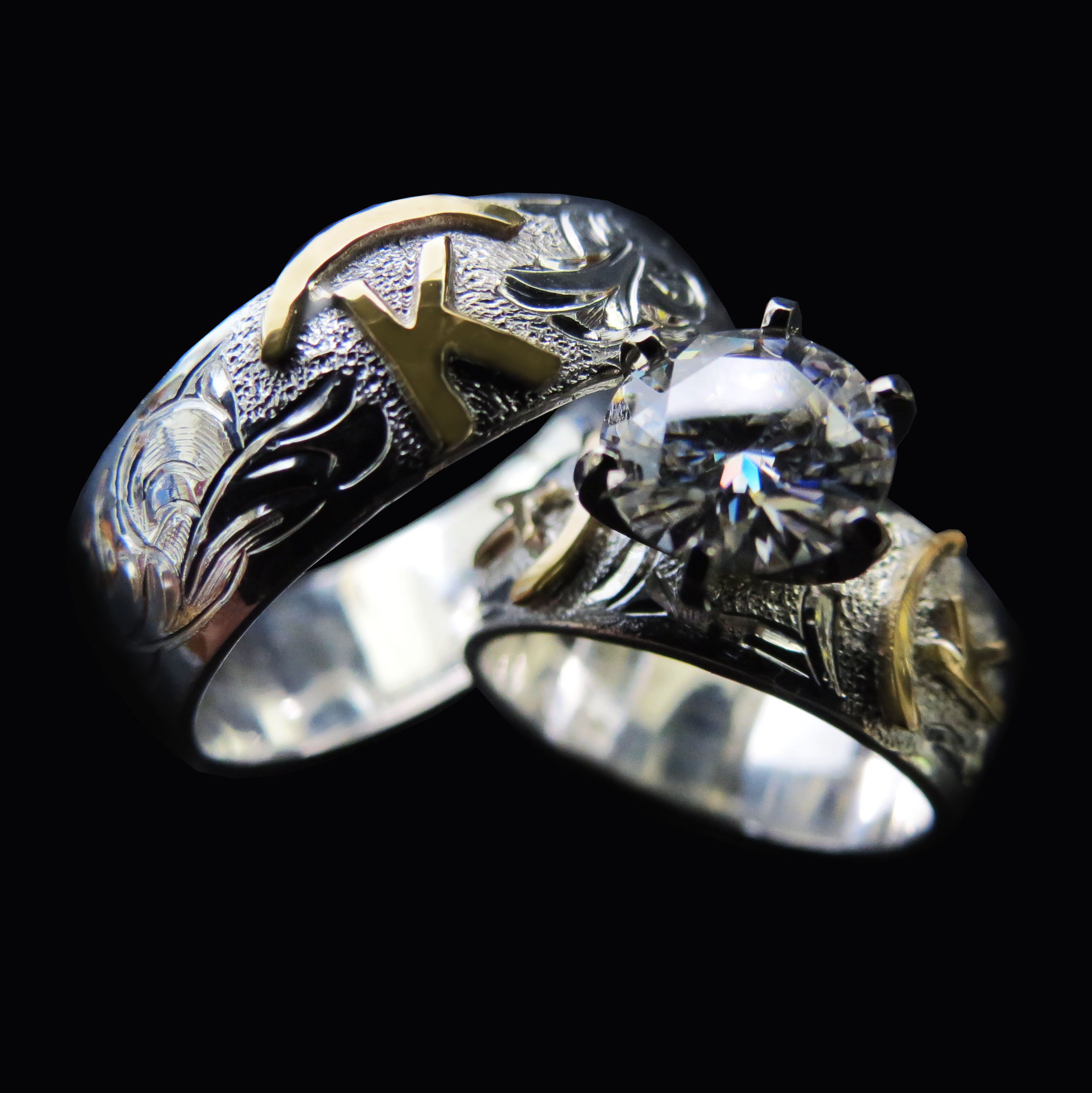and gold engagement titanium wedding wes man pure custom s ring made by rings mans wesandgold