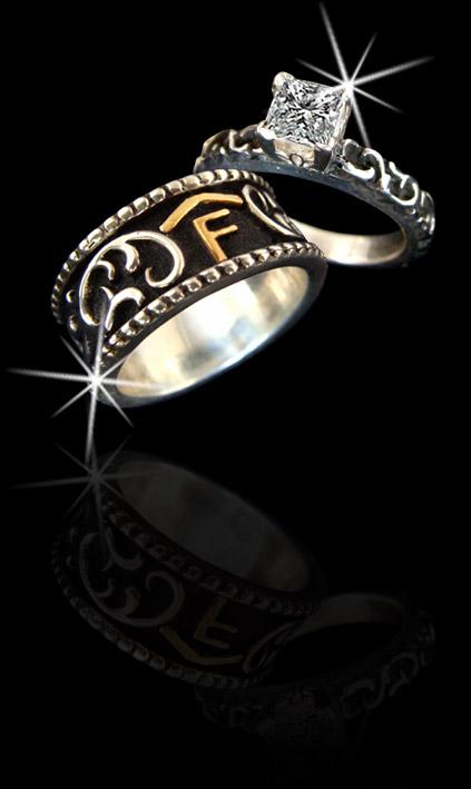 Custom Western Wedding Rings Image Of Ring Enta